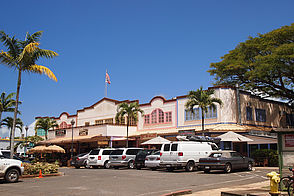 Foto: Shopping Center in Haleiwa auf Oahu - Hawaii.