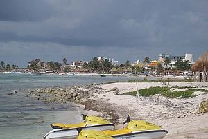 Foto: Strand des Sandy Beach Club in Mahahual, Costa Maya - Mexico.